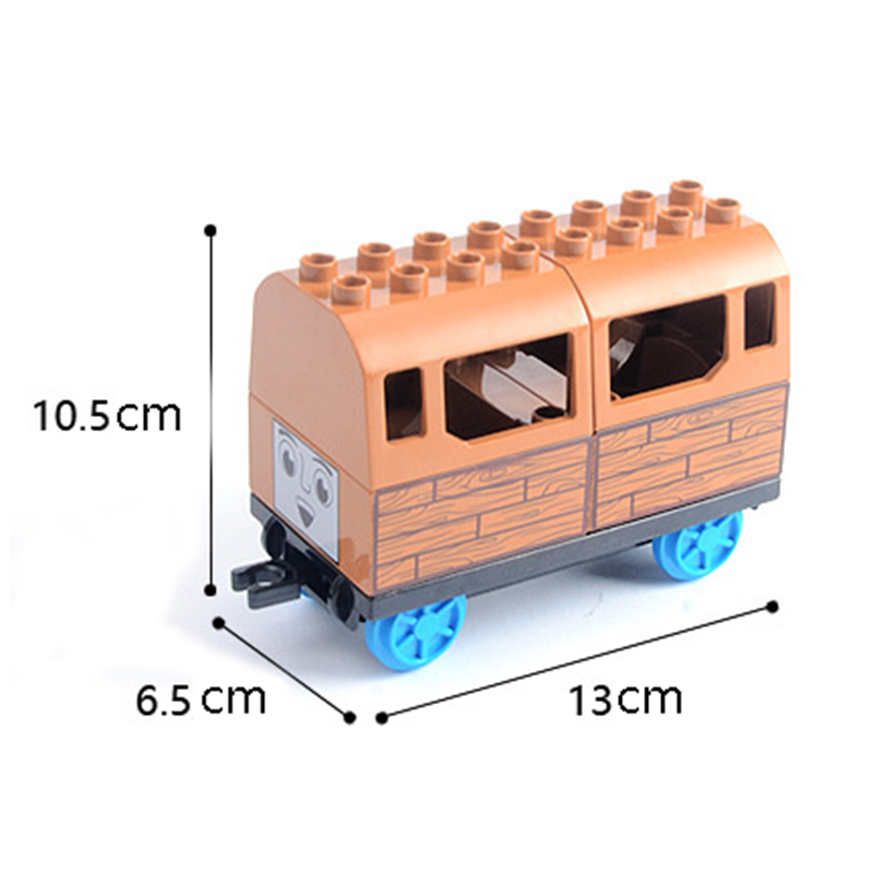 DIY Building Blocks Duploe Train Track Accessories Railway Points Curved Crossover Bridge Parts Brick Toys For Children Kids Gift (4)