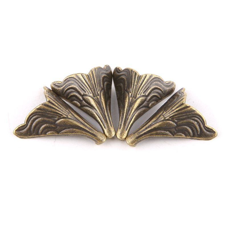 8PCS 20x26mm Antique Corner Protectors Bronze Tone Case Box Corners For Furniture Decoration Feet Metal Craft Corner WF4458037