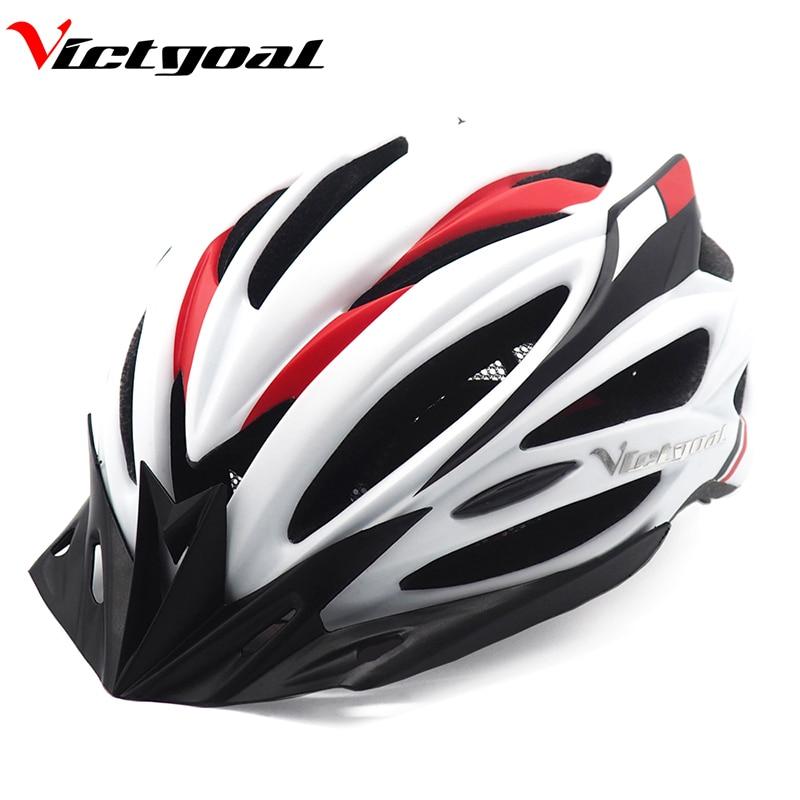 VICTGOAL Cycling Helmet Backlight Ultralight Bicycle Helemts Visor For Men Women Mountain Road Bike Helmet With Light Kids Adult