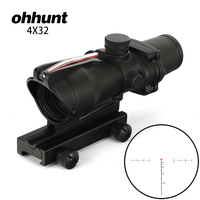 ohhunt 4x32 Scopes Hunting Tactical RifleScopes Red Chevron Glass Etched Reticle Fiber Optics Defects Surface Clearance Sale