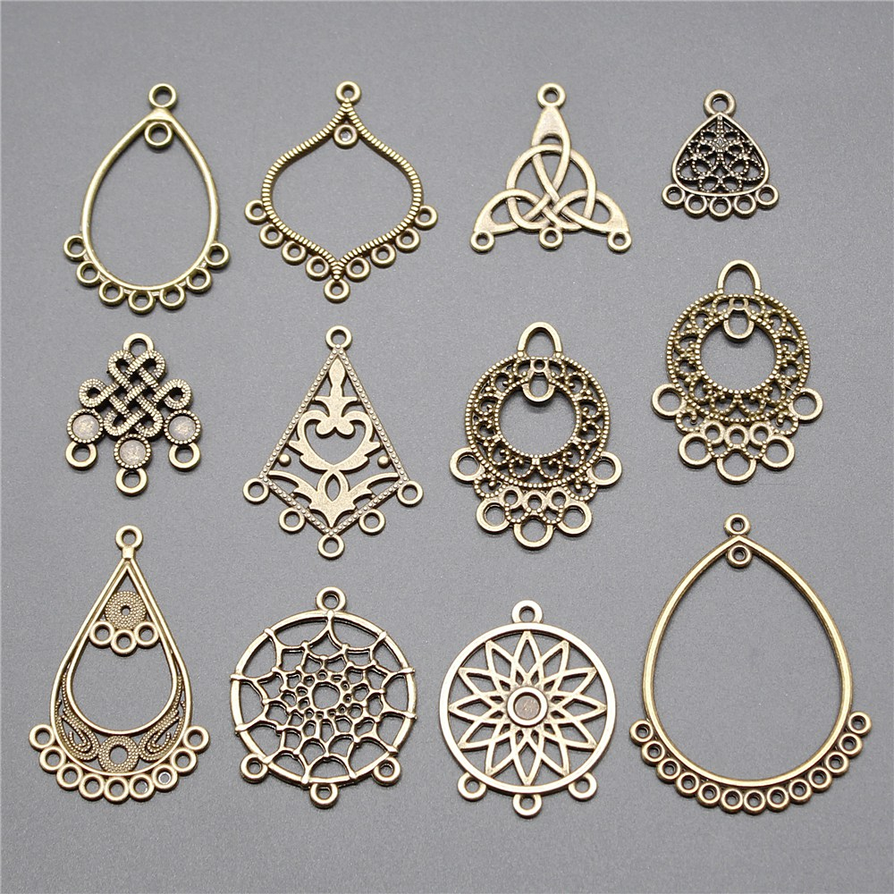 10pcs Earring Connector Dreamcatcher Antique Bronze Color Earring Connector Charms Jewelry Accessories For Earring Making