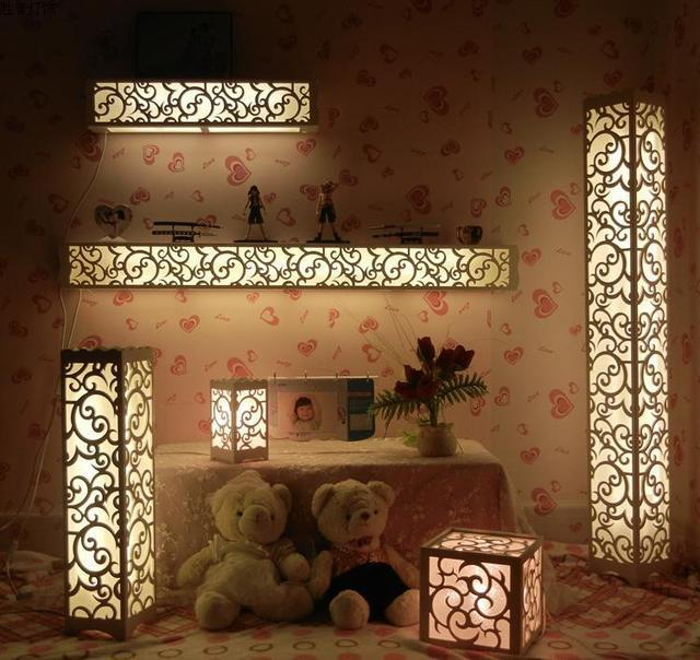 2017 Inventive Carve Patterns Fancy Floor Lamps 220v Turn On White Color Parlour Living Room Children