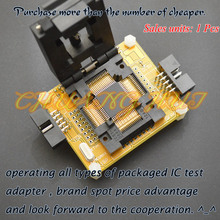 Clamshell TQFP64 LQFP64 test socket AVR ISP/JTAG MCU for atmega64 atmega128
