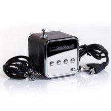 Portable TD-V26 Portable Mini Speaker with Digital and Micro SD / TF / USB / FM – Black