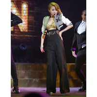 FREE SHIPPING Sexy Queen Custom Made Gray Short Jacket And Black Long Wide Leg Pants Sets