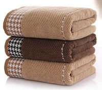 Luxury Bath Towel Adults Large Size High Water Absorbent Dark Color Men Towel Cotton Terry Bath