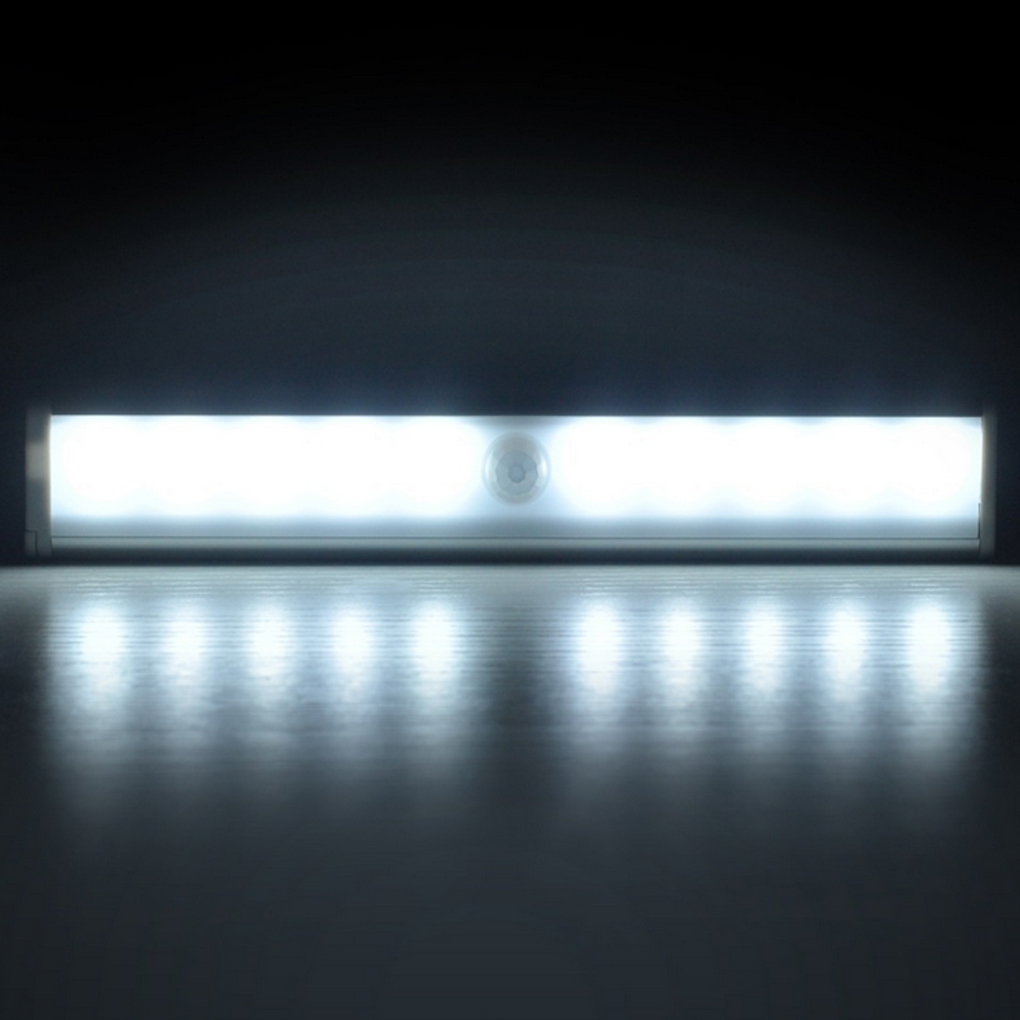 1W USB Motion Sensor Light 10 LED Bulbs Wireless Motion Nightlight Portable Security Closet Lamp for Closets Hallway Stairway