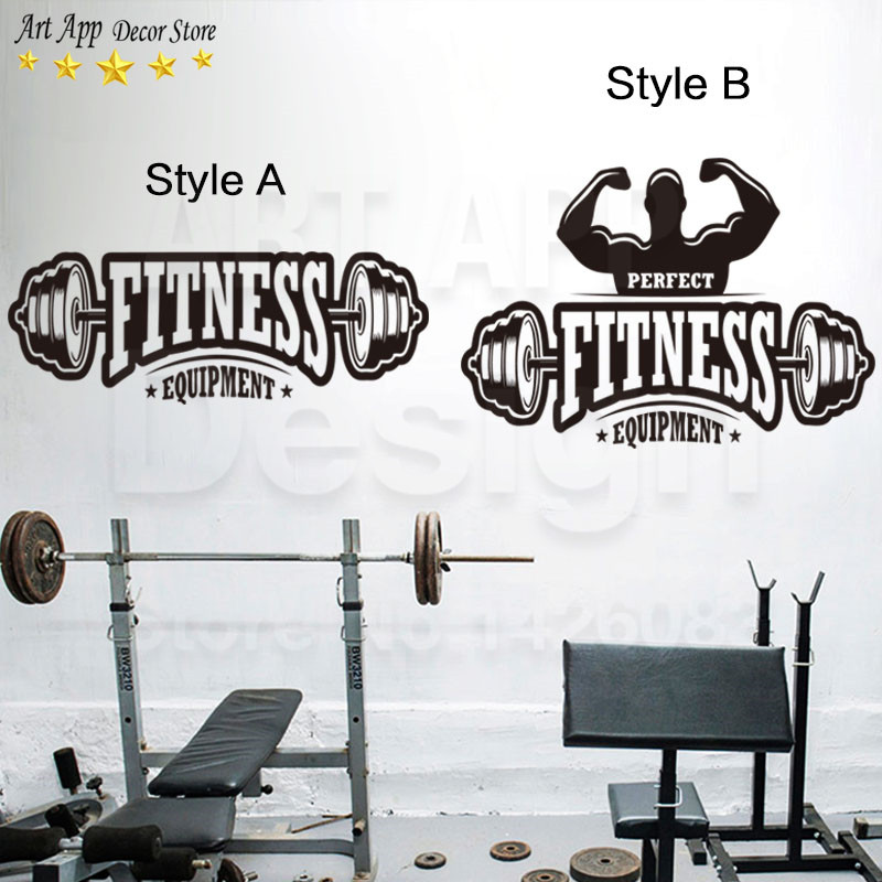 Gym Wall Design: Popular Fitness Decor-Buy Cheap Fitness Decor Lots From