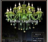 Европейский современный зеленый K9 Хрустальная люстра блеск кристаллов Люстры свет люстры де cristal люстра LED AC вилла Освещение