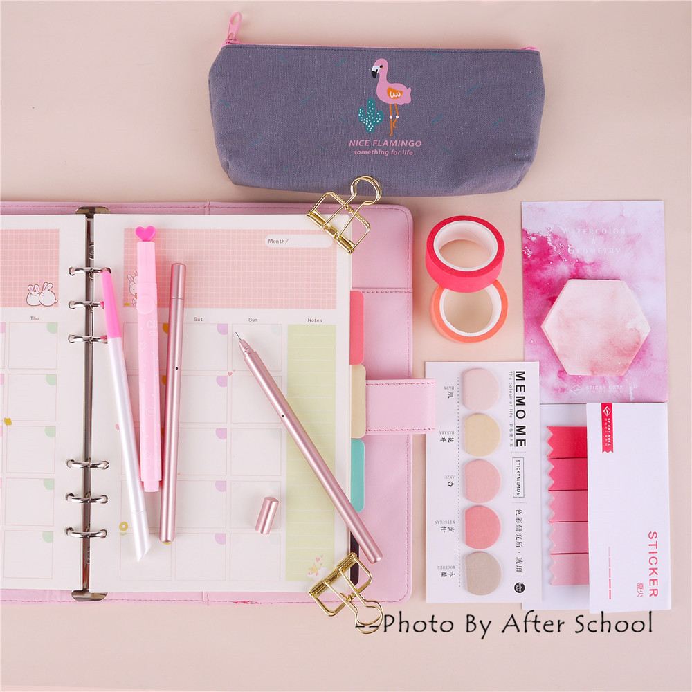 A5A6 Great Value Stationery Spiral Notebook Set With Pens Post it Memo Pads 2018 Sticker DIY Supply Planner Suit kitmmm559unv55400 value kit post it easel pads self stick easel pads mmm559 and universal economy woodcase pencil unv55400