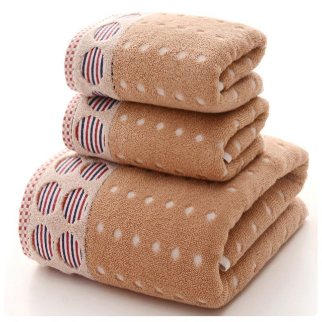 Geometric Striped Dots Pattern Towel Sets Japanese Style Bath Towel ...