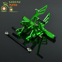 CNC Adjustable Motorcycle Billet Foot Pegs Pedals Rest For KAWASAKI ZX6R 2005 2008 2005 2006 2007