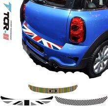 Araba arka tampon dekorasyon çıkartması gövde yük kenar Deco Mini Cooper Clubman Countryman R55 R56 R57 R60 F55 F56 araba şekillendirici