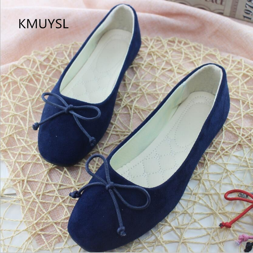 2017 Fashion Women Flat Shoes Square Head Suede The Comfortable Big Yards Single Shoes Woman Flat Shoes Size 35-42 15cm club shoes big star with steel tube dancing shoes 34 and 46 yards high with the lacquer that bake single crystal shoes