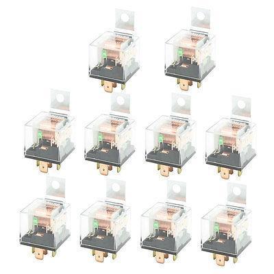 DC 24V 40A 1NC+1NO SPDT 5 Pin Green Light Pilot Lamp JD2914 Car Relay 10 Pcs 10 pcs ceramic socket green pilot lamp 5 pin no nc spdt car relay dc12v 40a amp