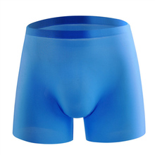 New Seamless Silk Men Underwear Breathable Boxer shorts Men Sexy 3D Soild Color