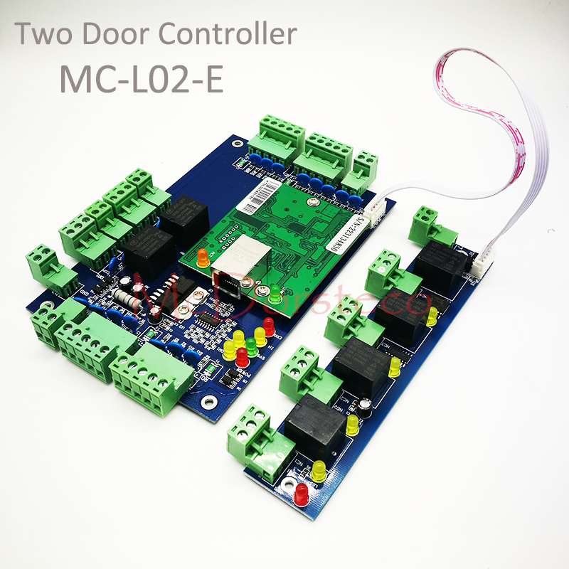 Alarm Expansion Board L02 For Sale Radient High Quality Wiegand Tcp/ip Two Doors Access Control Board 2 Door Access Control Panel