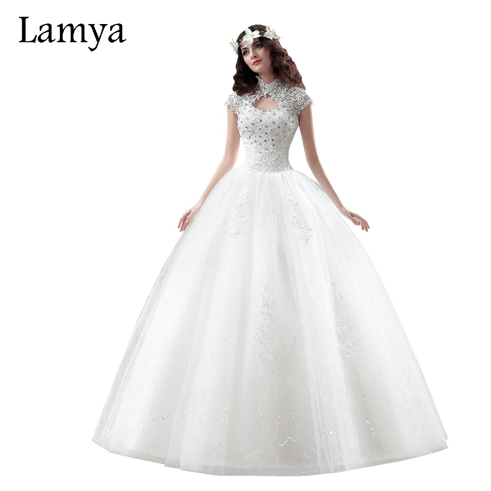 Lamya lace sweetheart short wedding dress 2017 cheap plus for Plus size lace wedding dresses cheap
