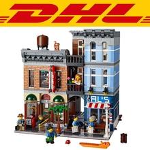 2017 Standard brick size 2262Pcs Creator City Street Detective's Office Model Building Kit Blocks Bricks Children Toy Gift 10246