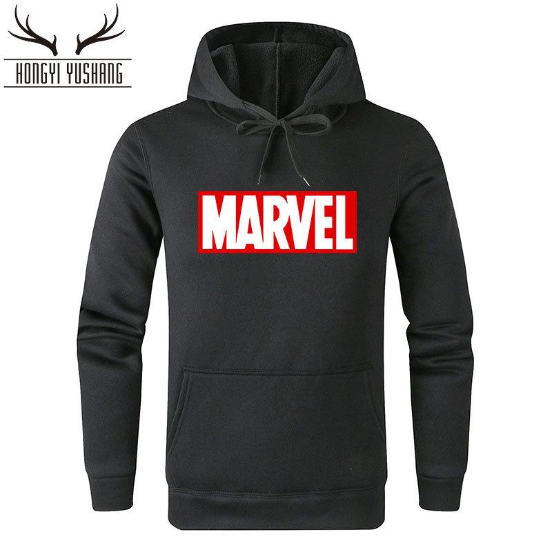 Hot 2018 Autumn Winter Superhero Marvel Hoodies Men Brand Sweatshirts MARVEL Letter Printed Fashion Hoodie W28