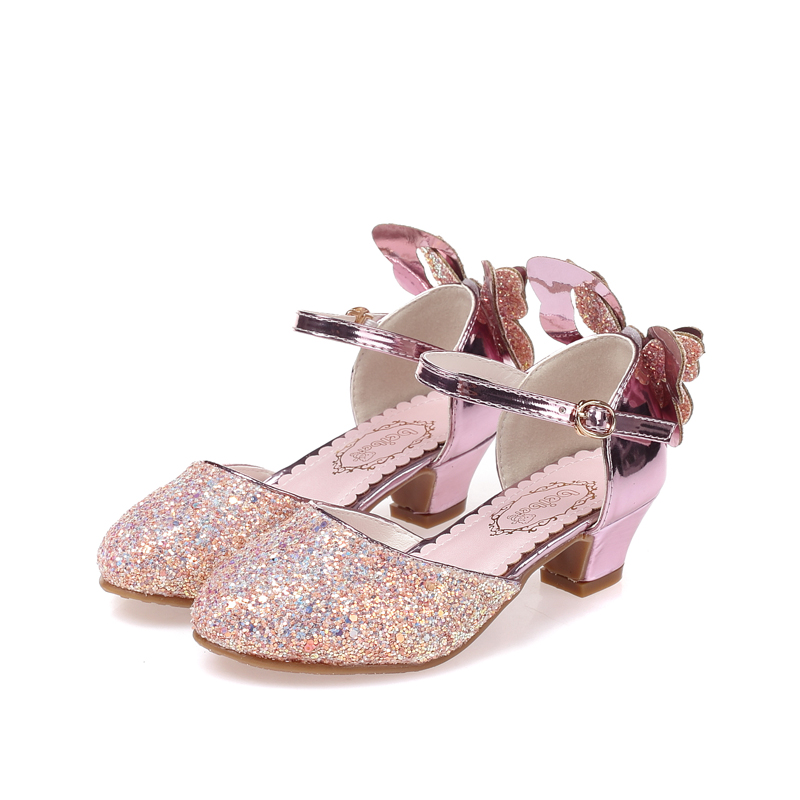 SKHEK NEW Children Sandals Kids Girls Wedding Shoes High Heels Dress Shoes Party Shoes For Girls Party Dress Shoes Size 28 37 in Sneakers from Mother Kids