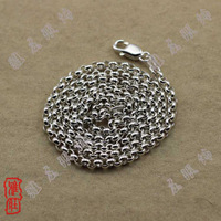 Man Necklaces Pure 925 Sterling Silver Jewelry 4mm Dia Round Link Chains Woman DIY Pendants Argent