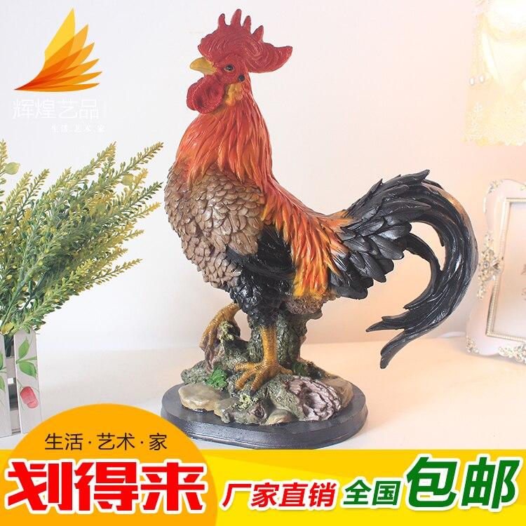 wedding decoration crafts handmade Shipping home feng shui lucky big cock wedding decoration decoration simulation animal sculpt