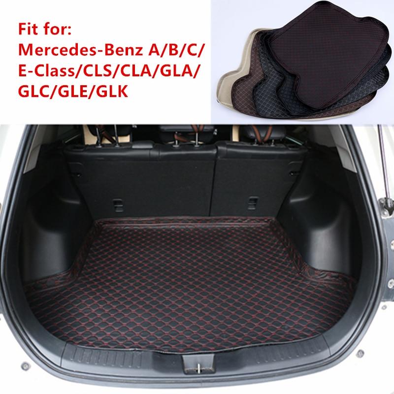 Novo carro traseiro tronco esteira para mercedes-benz a/b/c/e-class w246 w205 w212 w213 gla glc cla cls gle glk carga bandeja boot forro tapete