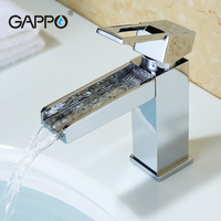 Gappo Brass Solid Basin Faucet Square Design Single Handle Cold And Hot Water Mixer G1040