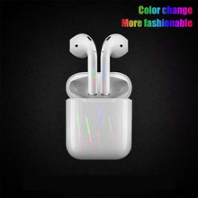 Etiqueta engomada alocroica de lujo para Apple funda protectora para airpods Etiqueta De piel Cool Scratch Proof Films pegatina de piel decorativa(China)
