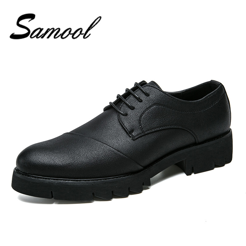 Men Dress Shoes Genuine Leather Lace-Up Black Oxfords Shoes High Quality Business Formal Pointed Toe Oxfords Flats For Male QX5 rhythm настенные часы rhythm cmg743nr06 коллекция century