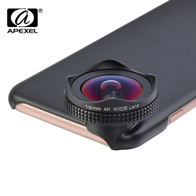 APEXEL HD 16mm 4K wide angle circular polarizing Filter wide  CPL lens mobile phone Camera Lens kit for iPhone 6 6s plus xiaomi 1