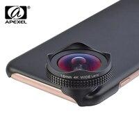 APEXEL-kit de lentes de cámara para teléfono móvil, kit de lente HD de 16mm, 4K, filtro Polarizador circular de gran angular, lente CPL para iPhone 6 6s plus xiaomi