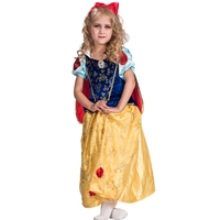 Child Prestige Snow White Girls Storybook And Fairytale Halloween Carnival Cosplay Costume
