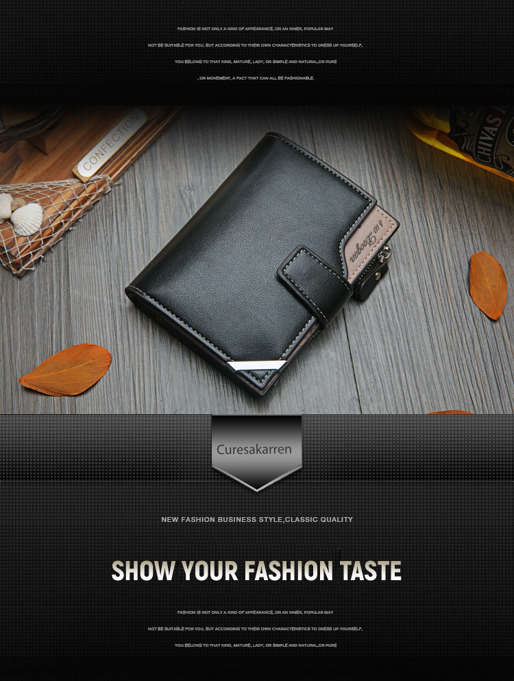 British casual multi-function Card Wallet