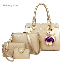 Women Composite Bag Fashion Designer Famous Handbag Purse Totes 5pcs Set