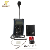 Acoustic EQ Equalizer System Guitar Preamp Piezo LCD Pickup Amplifier Tuner Tone And Volume Control Guitar