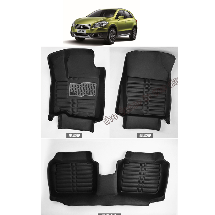 Floor mats x5 2015 - Free Shipping Leather Car Floor Mat Carpet Rug For Suzuki Sx4 S Cross 2nd Generation 2013 2014 2015 2016 2017
