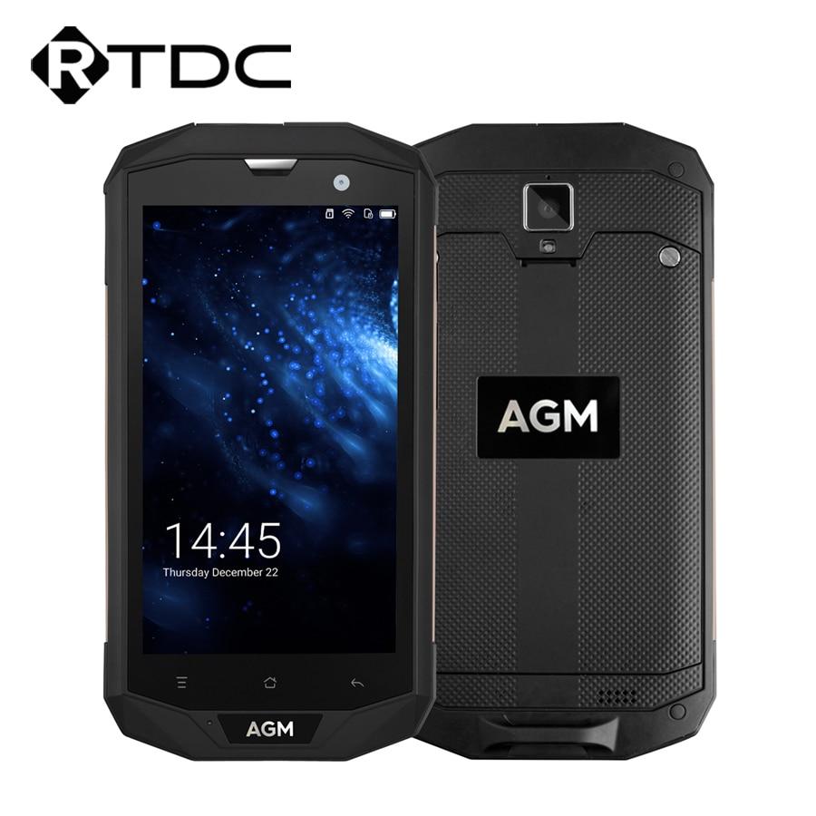 "Original AGM A8 US Version IP68 Waterproof Mobile Phone 5.0"" 3GB RAM 32GB ROM Qualcomm MSM8916 Quad Core 13.0MP Fingerprint OTG"