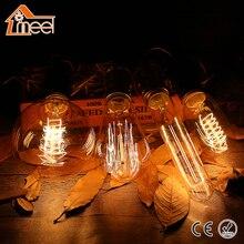 Retro Vintage Edison bombilla E27 220V espiral filamento Luz de Edison bombilla T10 T45 A19 ST64 G80 G95 G125 luz incandescente