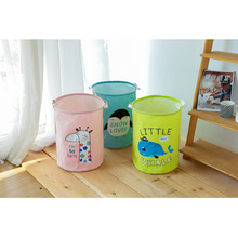 цены на 4 Colors Cute Animal Waterproof Storage Basket Dirty Clothes Laundry Basket Round Folding Sundries Toys Storage Basket 35x45cm  в интернет-магазинах