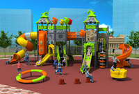 CE ISO TUV EXPORTED Outdoor Playground Garden Slide Strong Plastic Galvanized Tube Amusement Play Structure YLW