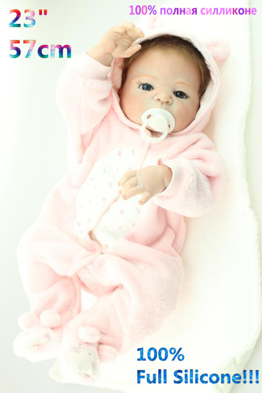 Christmas Gifts in Europe and America Early Education 100% Full Body Silicone Doll Reborn Babies Brinquedo Lifelike RB16-12H10