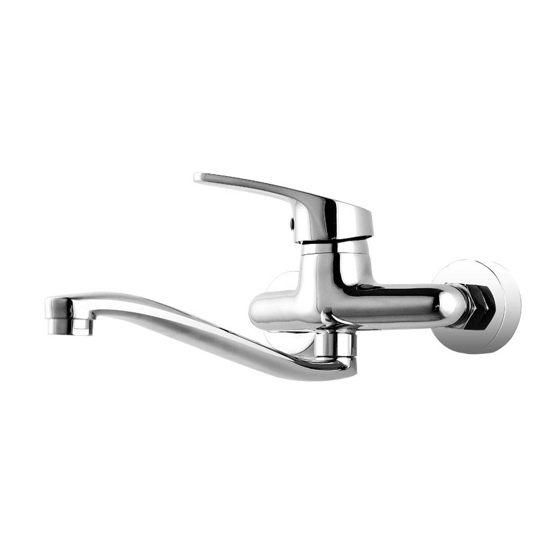 Concealed Kitchen Faucets Hot Cold Wall Mounted Faucets Water Mixer Taps Chrome Finish Bathroom Sink Faucets Brass Rotate Tap free shipping square wall mounted water tap bathroom sink faucet in chrome finish bf124