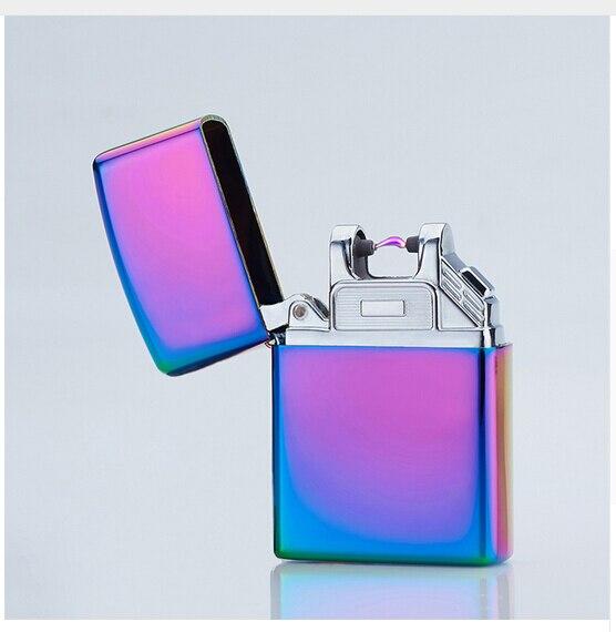 plasma arc usb charge sigaret elektronische aansteker sigaar roken aansteker electronicos gadgets voor mannen met geschenkdoos