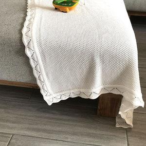 Image 5 - Örme dalga kenar popüler geri dönüşümlü bebek örgü battaniye kanepe atmak yatak yorgan çocuklar arka koltuk battaniye yenidoğan kundak