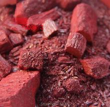 Oryginalny zinnober ruda ruda minerały religijne taoizm odeprzeć złe duchy 50g