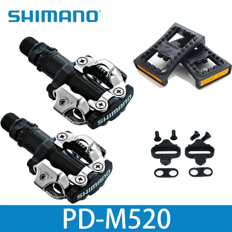 Shimano PD M520 Clipless SPD Pedals MTB Bicycle Racing Mountain Bike Parts PD M520 PD22