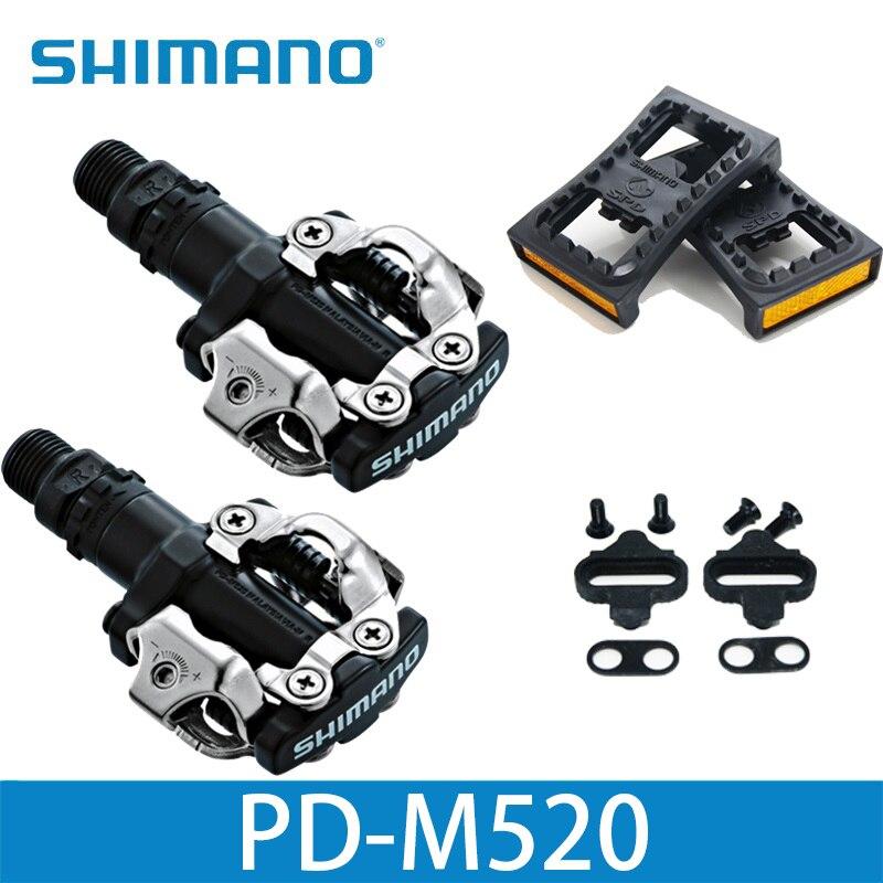 Shimano PD M520 pédales SPD Clipless vtt pièces de VTT de course de vélo PD-M520 PD22
