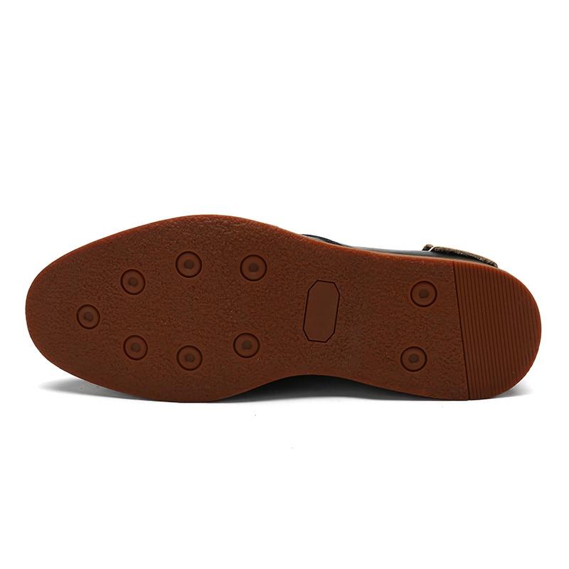 Masculino Sapato black Casual Zapatos Lujo warm winter Negro marrón Moda De Botas E Otoño Mycoron Invierno Hombres Cuero Nueva Nuevos Diseñador XnIZSIq6Rw